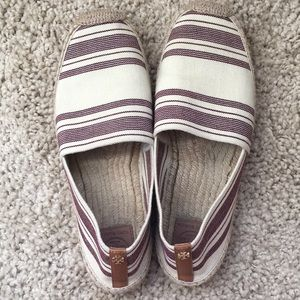 Tory Burch Awning cute elastic striped espadrille